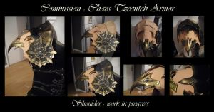 Commission : Chaos Tzeench Armor-work in progress by Deakath