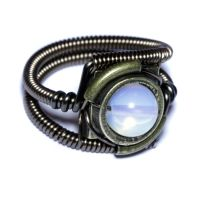 Steampunk Jewelry - Ring - Moonstone Opalite by CatherinetteRings