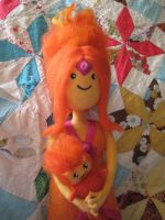 Needle Felted Flame Princess by CatsFeltLings by CatsFeltLings