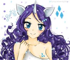 Sparkly Rarity gijinka by FlyingCatsandGlitter