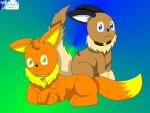 AR: Baby Eevees by Marquis2007