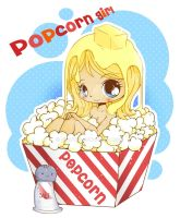 Chibi Popcorn Girl by YamPuff
