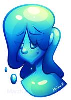 Slime Girl (Commission) by MarzKartoons