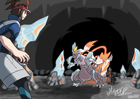 Nate VS White Kyurem by Hanimetion