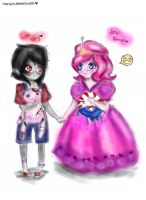little marcy and little PB by NENEBUBBLEELOVER