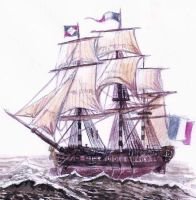 French Revolution Frigate by Bodach
