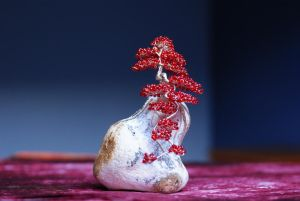Beaded wire bonsai by memysandi