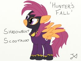 Shadowbolt Scootaloo (Hunter's Fall) by Xaphriel