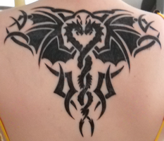 My Dragon Tribal Tattoo V2 by DragonGirl-Lucky-13