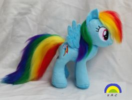 Rainbow Dash plush w faux fur by Epicrainbowcrafts
