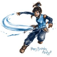 Korra for Andy by lorellashray