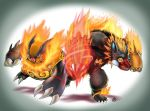 Emboar and Bariblaze by TheCreationist