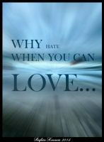 Why hate When You Can LOVE... by savianty