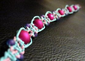 Bubble Gum Ice Cream bracelet by ChaosFay