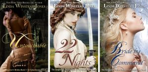 Emperor's Brides cover design for Linda Jones by Llyzabeth