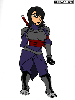Armored Ashi(colored) by Breezykiid94