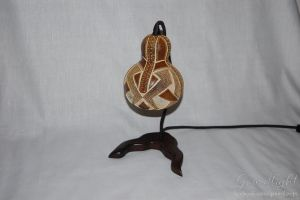 Table Lamp IV - Gourdlight - Handmade Gourd Lamp by gourdlight