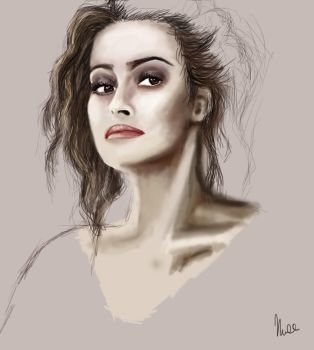 Helena Bonham Carter WIP by RecklessPadfoot