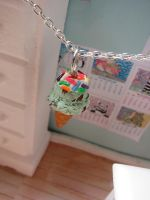 Mint Choc Chip Ice Cream Charm by LittleSweetDreams