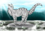 Silverstar of RiverClan by grump-the-deer