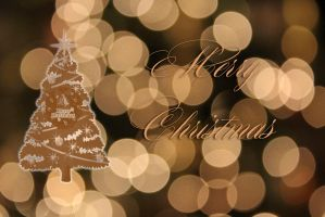 Choc Gold Bokeh Christmas by Richard67915