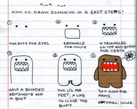 How to draw Domokun by ilovegravy
