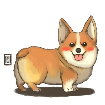 Corgi by juliastorybored