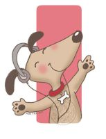 perrito musical by aurangelica