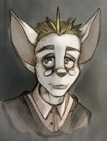 Portrait of Nervousness by coffinberry