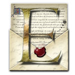 Steampunk E Open Envelope Icon by yereverluvinuncleber