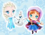 Elsa, Anna and Olaf by hinivaal