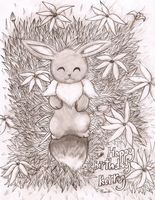 An Adorable Birthday Eevee by LostButterfly92
