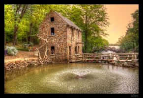 Old Mill Fountain HDR by joelht74