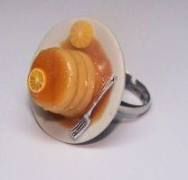 Orange pancake by PookieTookieJewelry