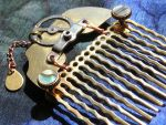 'Brass and Shell' Hair Comb by Jerreth