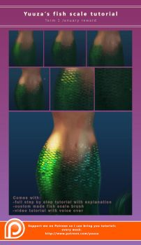 Fish scale tutorial by Yuuza