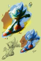 Sonic the Hedgehog - colour study by darkspeeds