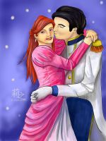 Ariel and Eric - Commission by lizjowen