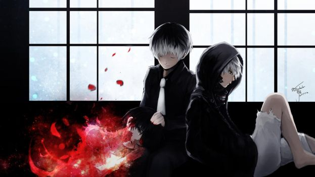 black white kaneki and Haise  by SukaLee by Goditsuka
