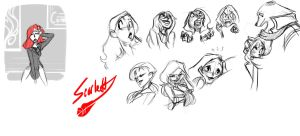 Scarlett Character Sketches by Dream-Piper