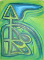 Untitled In Green and Blue by frostilicusfrost