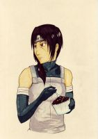 Itachi eating a chocolate cake by hyakamaru