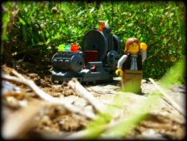 HG Wells -  The Time Machine In Lego 2 by Cryptdidical
