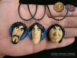 Classic Tito, Vic and Joey Clayricatures by Dinuguan