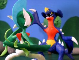 Garchomp vs. Gallade by ClayPita
