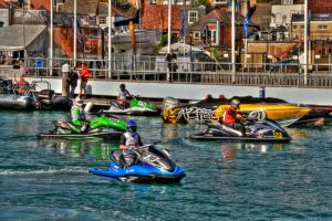 Cowes Harbour Scene 3 by Tangent101