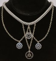 Frozen Industry Steampunk Full Persian Necklace by ArmouredWolf907