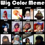 Wig Color Meme by GothicMary-Chan