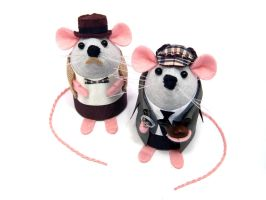 Sherlock and Watson Mice by The-House-of-Mouse