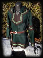 Green and Brown Viking Larp Tunic by Feral-Workshop
